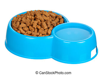 Bowl of dog food