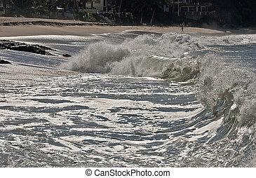 Rough Pacific Ocean surf - Rough Mexican Pacific Ocean surf...