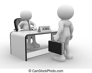 Office - 3d people - human character, person sitting at a...