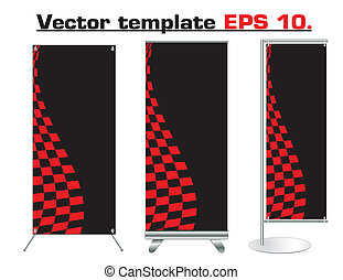 Vector roll up banner design
