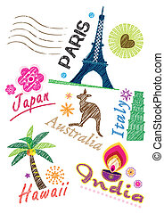 Travel icon set - Stock Vector Illustration: Different...
