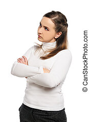 Woman crossed arms