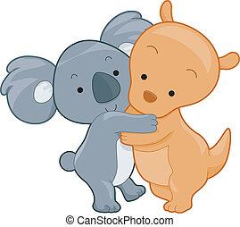 Koala and Kangaroo