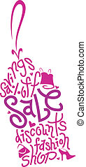 Price Tag - Text Illustration Featuring a Price Tag