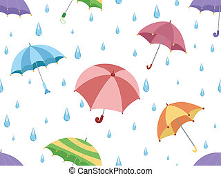 Umbrellas - Illustration Featuring Umbrellas
