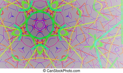 Changing color pentagon - The pentagon changes color and the...