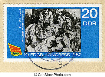 GERMANY - CIRCA 1982: A stamp printed in Germany devoted...