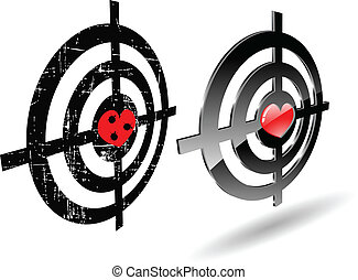 the abstract vector grunge target set
