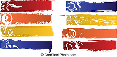 vector color banners set