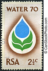 SOUTH AFRICA - CIRCA 1980: A stamp printed in South Africa...