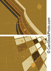 the brown vector abstract background set