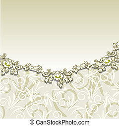 Beige background with floral ornam