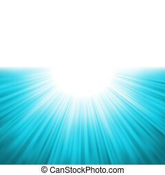 Sunburst rays of sunlight tenplate EPS 8 vector file...