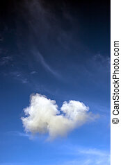 a natural fluffy heart shaped cloud - a natural heart shaped...