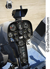 Helicopter cockpit - Detail of the cockpit of an helicopter...