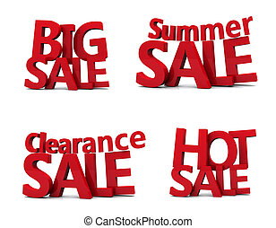 Big sale 3d isolated