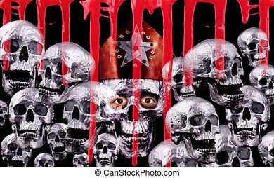 skulls - Human silver skulls