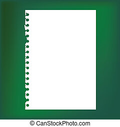 Close up of blank notepad paper