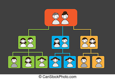 family tree over square over grey background vector