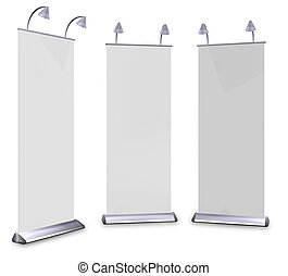 3D roll up banner display And lamp. With Save path for...