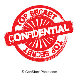 confidential - red confiential stamp isolated over white...