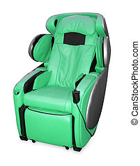 leather shiatsu massage chair. - green leather shiatsu...
