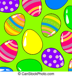 Happy easter - Vector illustration of colorful easter eggs...