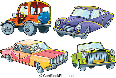 Cars Collection - cartoon illustration of various cars