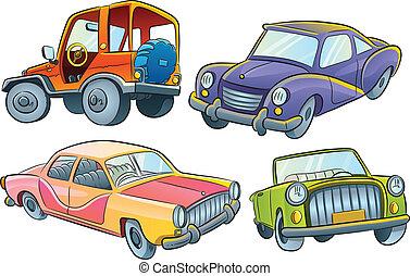 autók, gyűjtés
