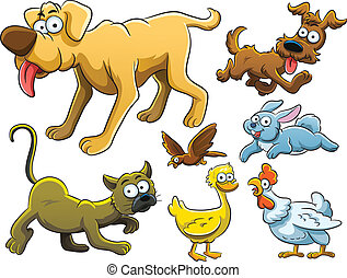 Animals Collection - cartoon illustration of various animals...