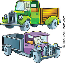 Truck Collection - cartoon illustration of medium truck