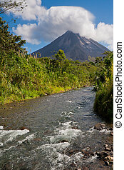 Arenal Volcano - Landscape in Arenal National Park, Costa...