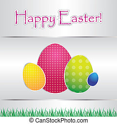 special card with easter eggs