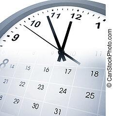Time - Clock face and calendar composite