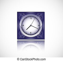 blue vector clock