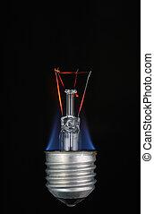 bulb burning