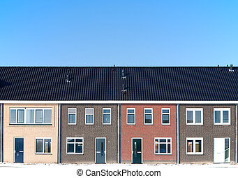 Housing development in Groot-Ammers, the Netherlands