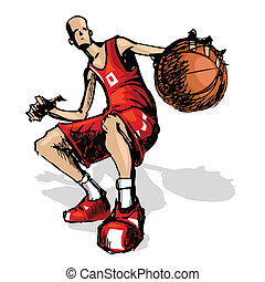 Basket Ball Player - illustration of basket ball player...