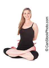 yoga - The image of girl engaging in yoga