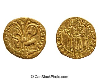 Gold Florin, Florence - Gold Florin Fiorino doro coin issued...