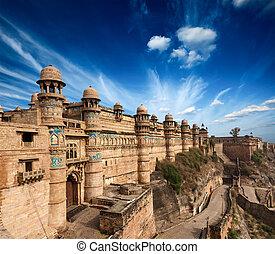 Gwalior fort - Mughal architecture - Gwalior fort. Gwalior,...