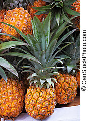 The pineapples - The picturesque holiday bazaar stall on the...