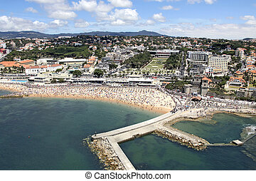 View of the beautiful town of Cascais - Portugal