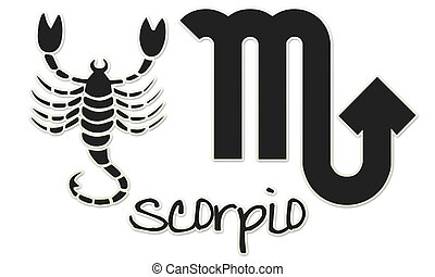 Scorpio Signs - Black Sticker - zodiac signs