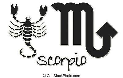 Scorpio Signs - Black Sticker - zodiac signs