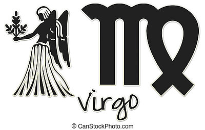 Virgo Signs - Black Sticker - zodiac signs