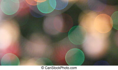 out of focus christmas lights background
