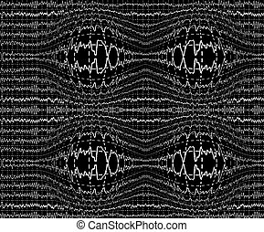 brain waves on encephalogramme EEG