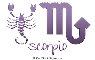 Scorpio Zodiac Signs Purple Plastic - zodiac signs