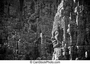 Faces of Bayon temple, Angkor, Cambodia